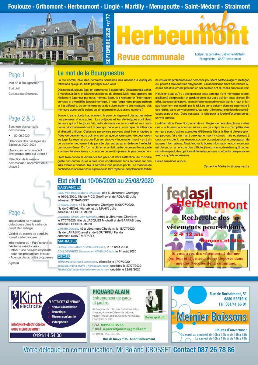 Herbeumont info 77