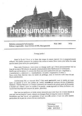 Herbeumont info 21