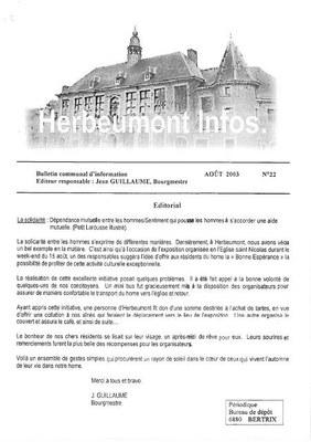 Herbeumont info 22