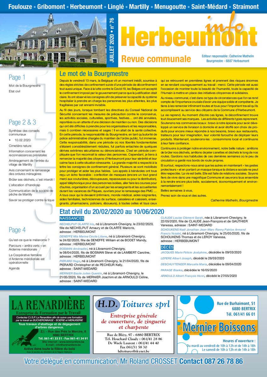 Herbeumont info 76